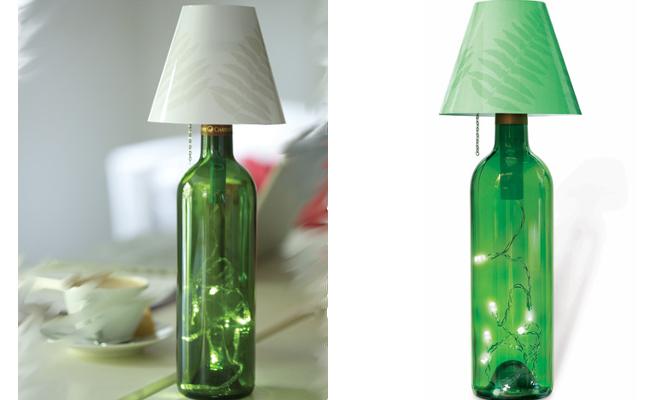 Convertir una botella en l mpara - Como hacer una lampara de mesa casera ...