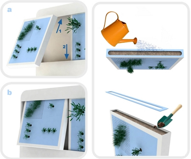 Ecohabitare jard n vertical individual for Como se construye un jardin vertical