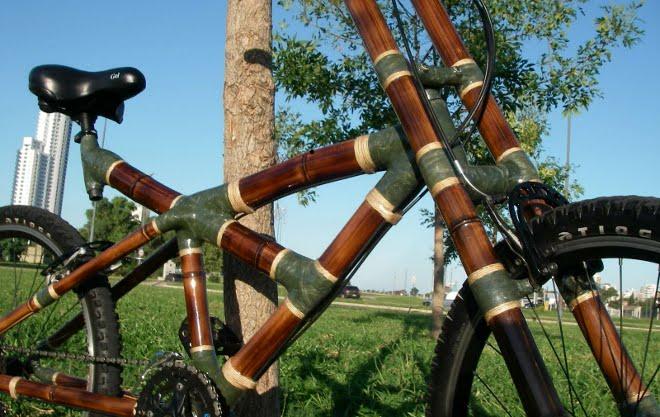 Bicicletas fabricadas con bambú