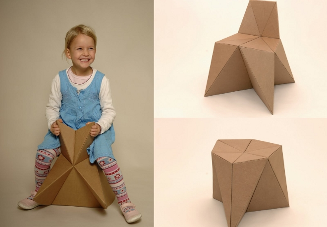 Mobiliario para ni os hecho con cart n - Imagenes de muebles de carton ...