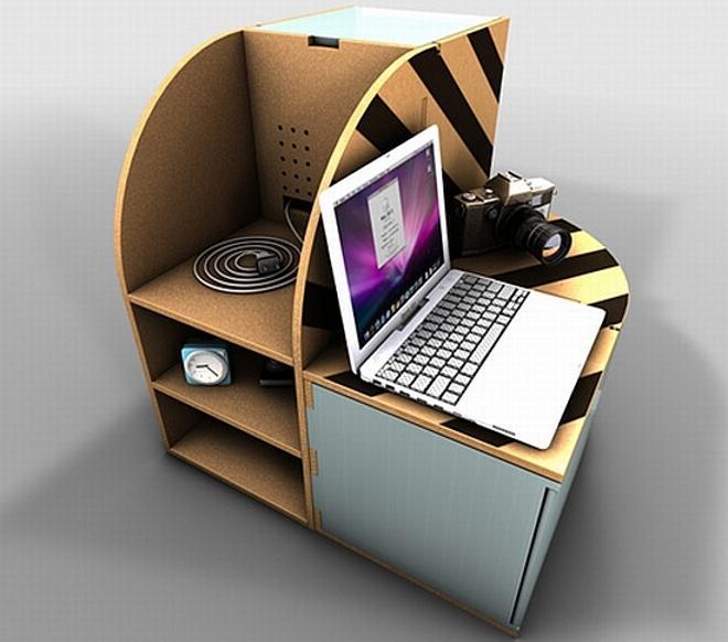 Mobiliario con materiales reutilizados