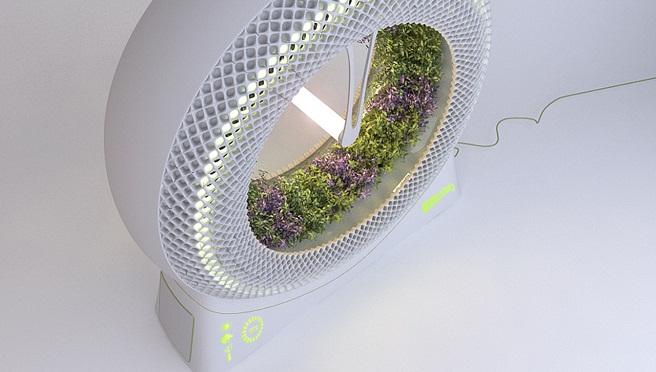 Green wheel cultivo hidrop nico rotatorio de uso casero - Jardin hidroponico ...
