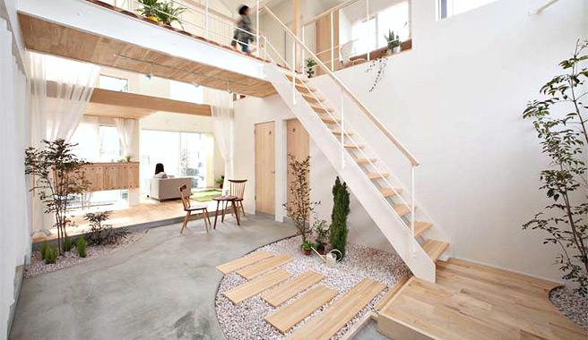 Kofunaki una casa con rboles y arbustos en su interior - Arboles de interior con poca luz ...