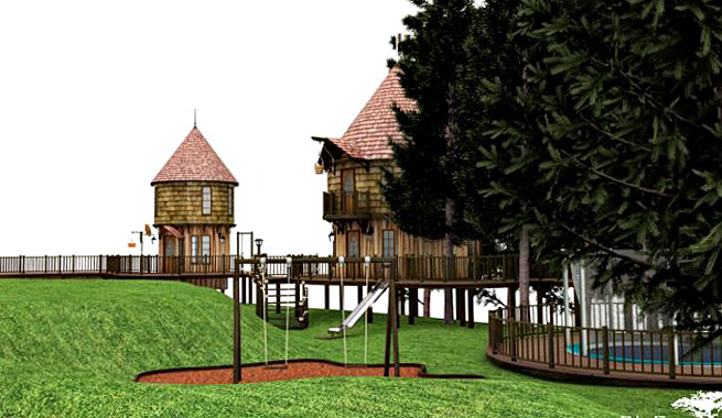 Casas de rbol lujosas para los hijos de j k rowling - Casas en los arboles girona ...