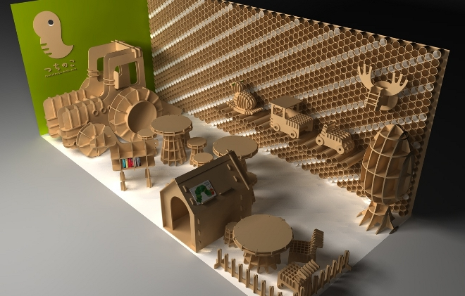 Tsuchinoco muebles y juguetes de cart n para ni os - Muebles de juguete en madera ...