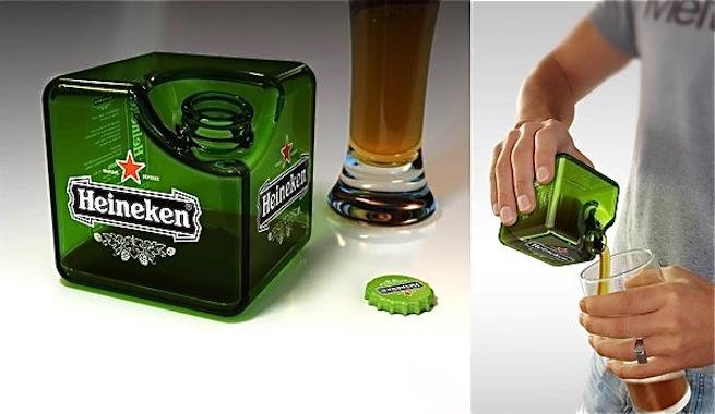 Inventan una botella cúbica para la cerveza