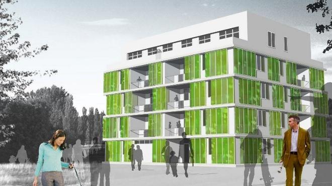 Algas en la fachada sombra y energ a renovable - Fachadas arquitectura ...