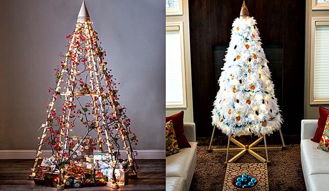 Rbol de navidad alternativo y ecol gico con infinitas - Arboles de navidad artesanales ...