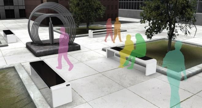 mobiliario urbano que produce energ a solar