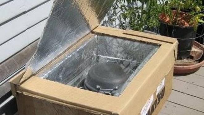 como construir un horno solar: