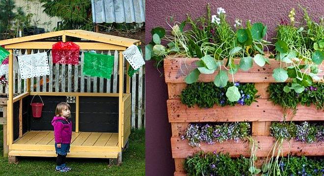 Reciclar palets para decorar el jard n for Decorar jardin economico