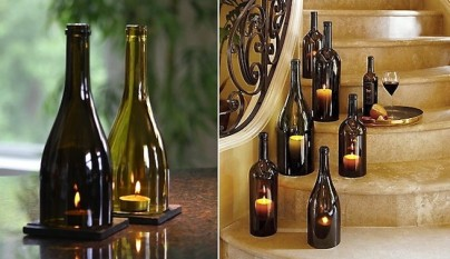 Ideas para decorar con botellas de vino