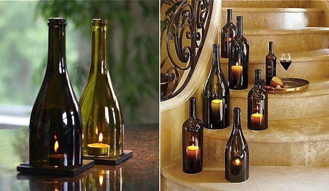 Ideas para decorar con botellas de vino