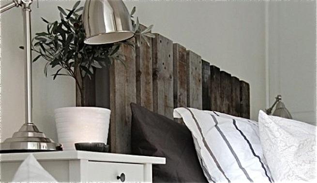 Palet como cabecera de una cama - Como decorar cabeceros de cama ...