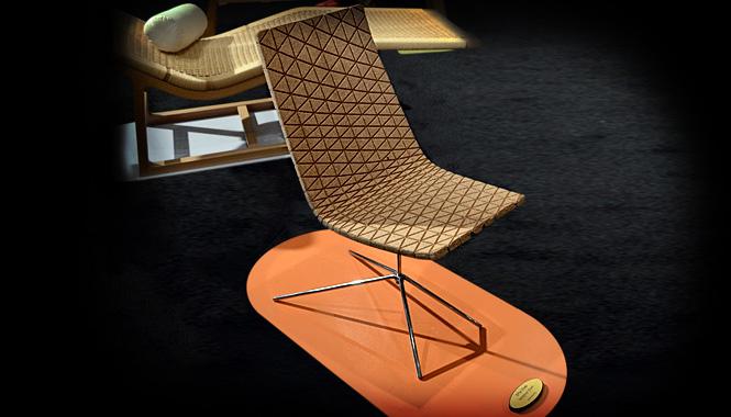 Estilosa silla fabricada con residuos de corcho - Muebles de corcho ...