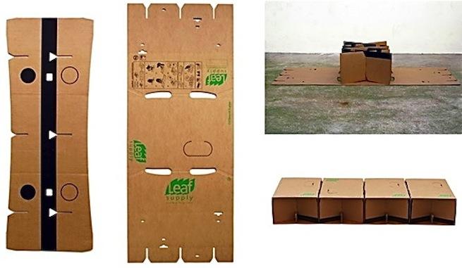 Hacer muebles con las cajas de cart n del embalaje for Muebles de carton moldes