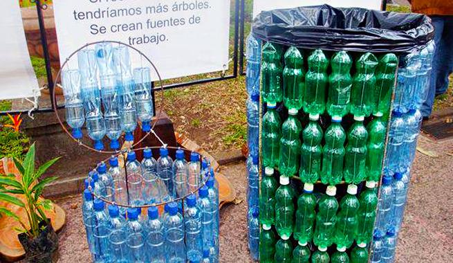 cubos de basura - Botellas Plastico