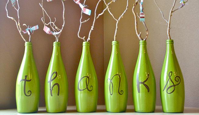 Pintar botellas de cristal para decorar - Pintar con acrilicos paso a paso ...