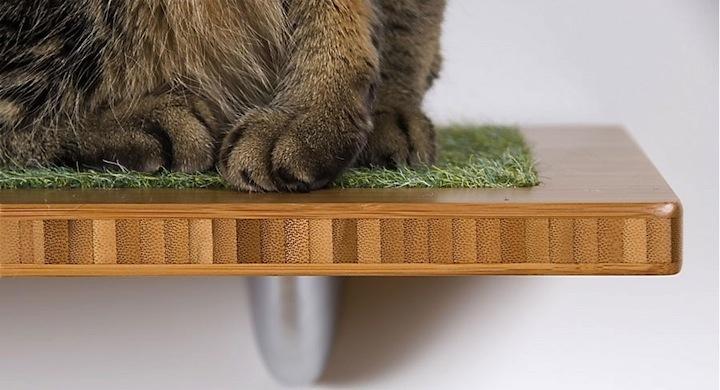Estilosa estanter a de bamb para gatos - Estanterias para gatos ...