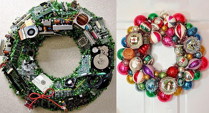 Darles un nuevo aire a los adornos viejos de navidad for Bolas de navidad recicladas