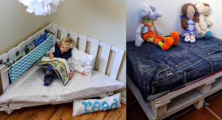 rincones para niños creados con palets - Tienda Muebles Ninos