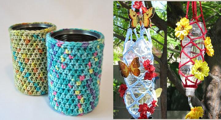 Reciclar latas, botes y botellas haciendo ganchillo