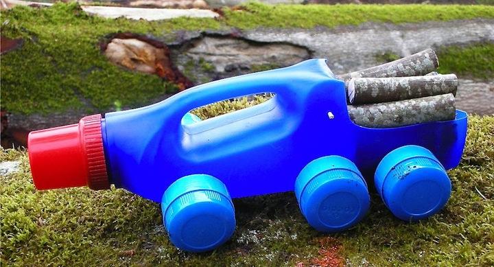 Juguetes Anticrisis Fabricar Camiones Con Botellas De Plastico