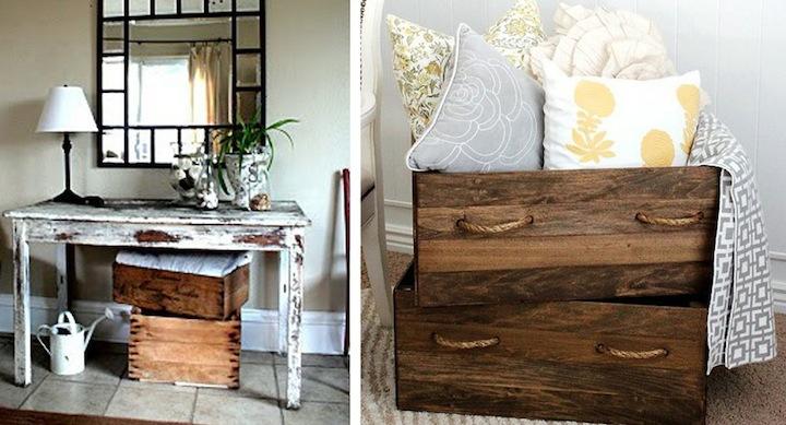 Ideas decorativas para reciclar cajas de frutas for Reciclar una cama de madera