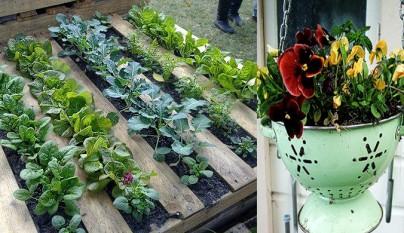 Macetas y jardineras originales con material reciclado for Viveros baratos