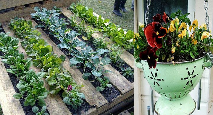 Macetas y jardineras originales con material reciclado