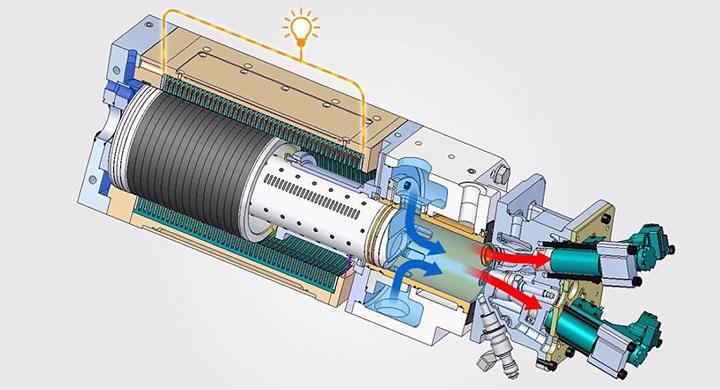 Motor de combustion que genera electricidad