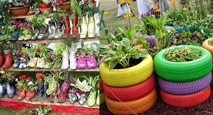 Reciclaje ideas para jardineria