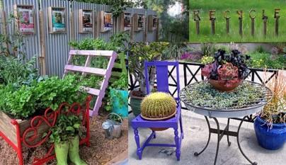 Ideas para decorar el jard n con muebles viejos for Ideas para decorar el jardin reciclando