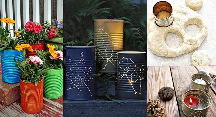 Ideas para reciclar latas - Ideas para decorar reciclando ...
