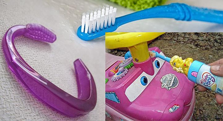 Reutilizar los cepillos de dientes