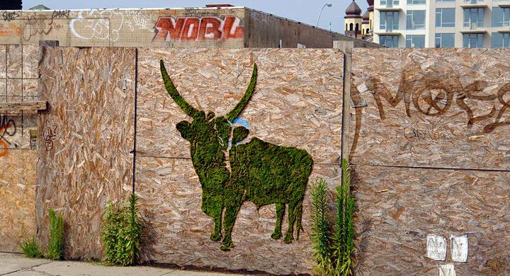 Graffiti ecologico configura de animal