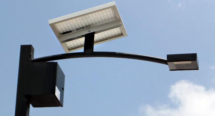 Lampara solar urbana