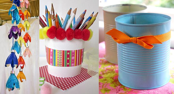 Reciclaje con latas para hacer lapiceros - Reciclaje manualidades decoracion ...