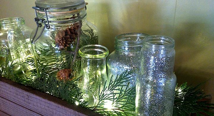 Decoraciones navide as con envases de cristal - Decoraciones navidenas con reciclaje ...