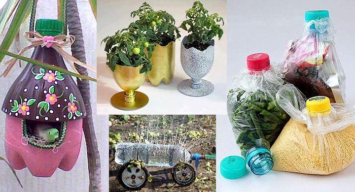Cinco maneras creativas de reutilizar botellas de pl stico for Reciclaje jardin y decoracion