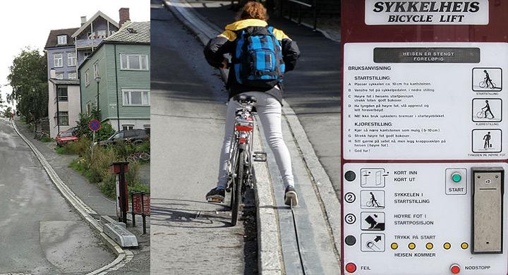 Ascensor noruego para bicis