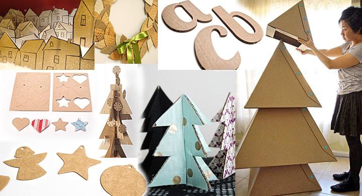 Adornos navide os con cart n for Arbol de navidad con cajas de carton