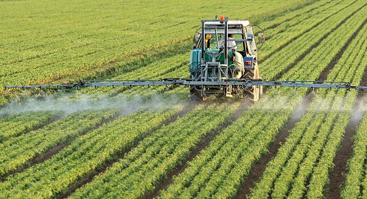 Tratamiento de pesticidas en campo