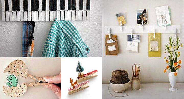 Ideas para reciclar pinzas de tender la ropa - Tendederos de ropa de pared ...