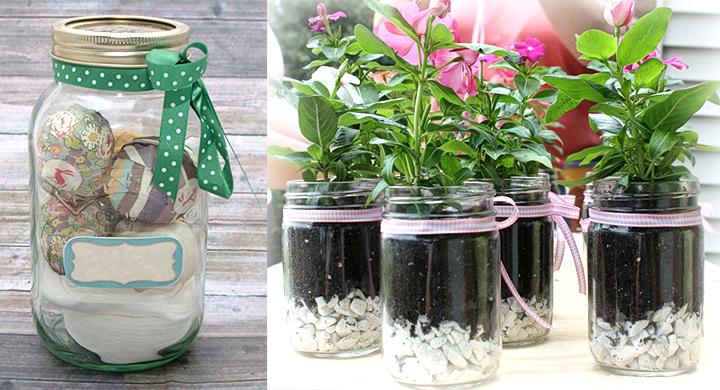 Cinco usos pr cticos de los frascos de conserva for Jardines en lata
