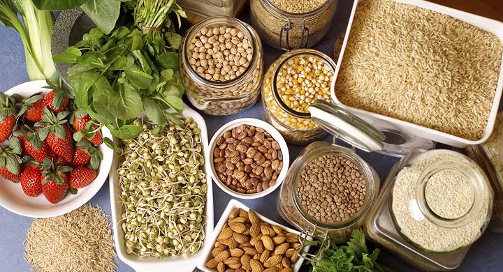 Brotes soja legumbres cereales frutos secos