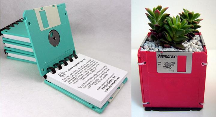 Reciclaje creativo de diskettes