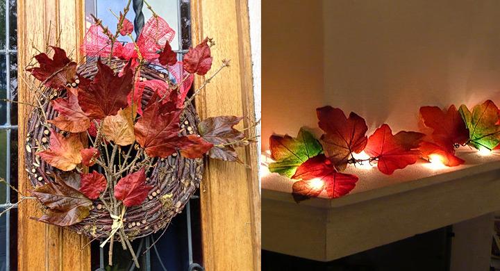 Decoraci n estilosa con hojas de oto o for Decoracion con hojas secas