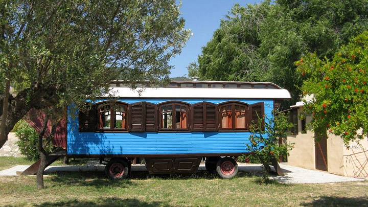 Vagon tren casa