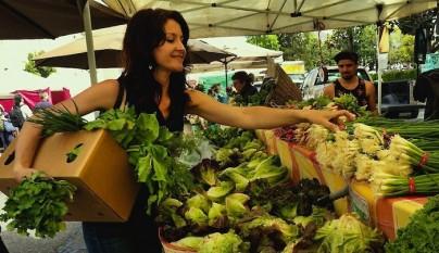 Comprando verduras